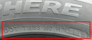 DOT TIN TIre Number Location on a Tire